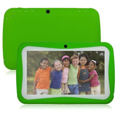 7inch andriod kid tab green 1