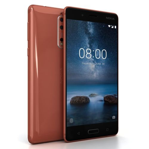 nokia 8 polished copper 3d