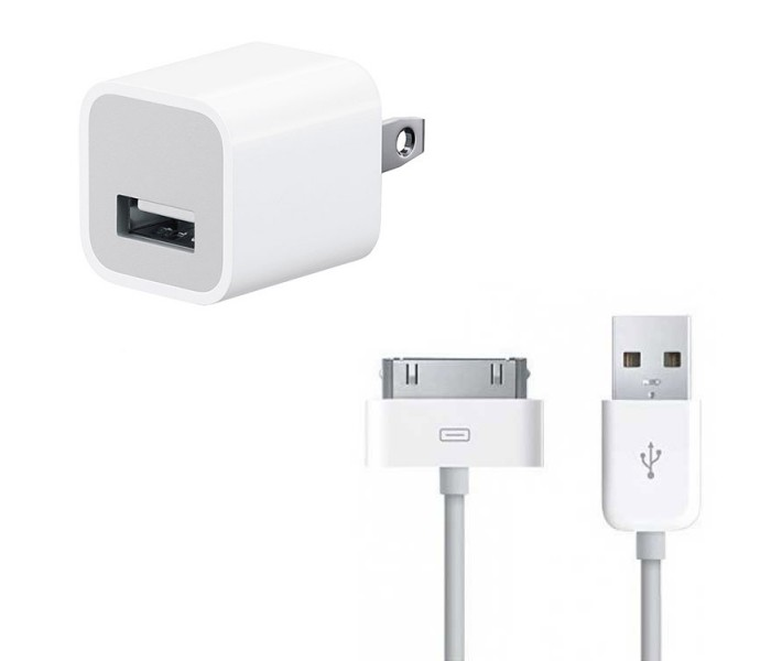 Apple Charger For iPhone 3,3Gs,4,4s,iPad 1,2,3,iPod,iPod ...