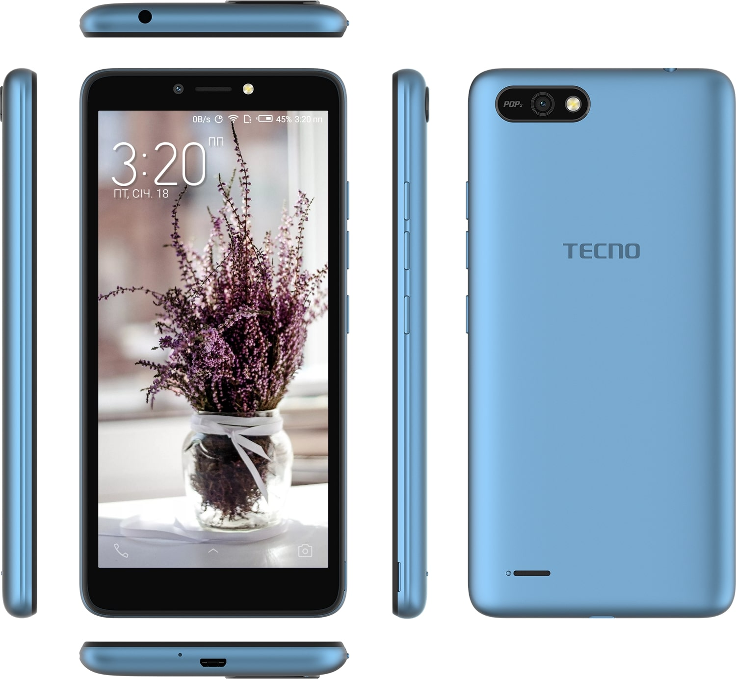 Tecno Pop 2 B1 [8GB/1GB] Blue
