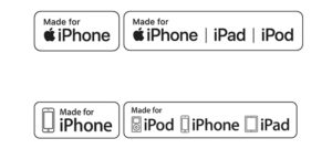 Made for iPhone iPad iPod MFI Badge or MFi Icon